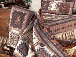 лоскутные одеяла в стиле пэчворк разных расцветок