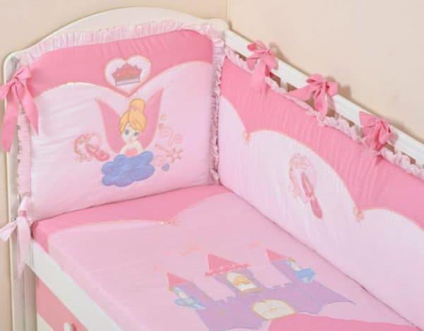 бампер в кроватку для новорожденных для девочек
