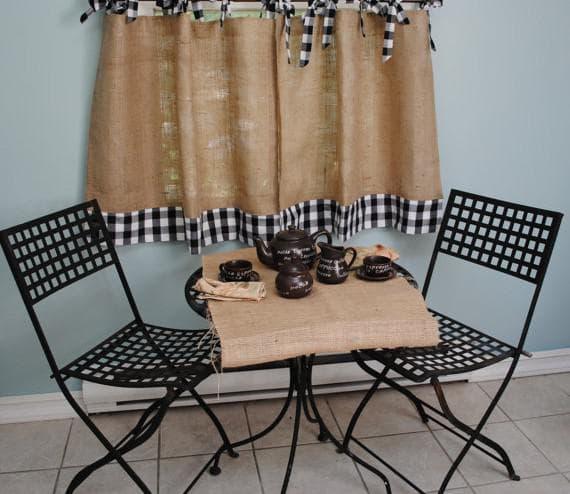шторы-кафе в  стиле кантри для кухни