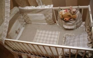 бампер в кроватку для новорожденных из натуральных материалов
