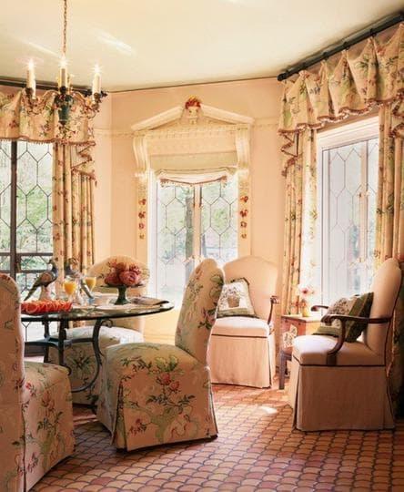 шторы в стиле кантри в гостиную