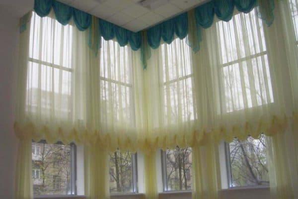 занавески на большие окна