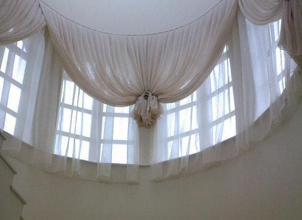 шторы на большие лестничное окна