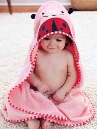 Банное полотенце с капюшоном для самых маленьких