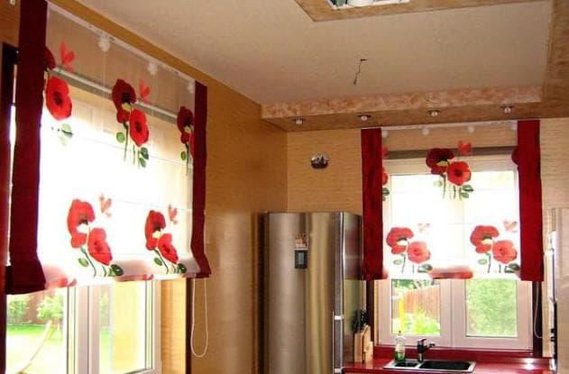 шторы леруа мерлен с цветами