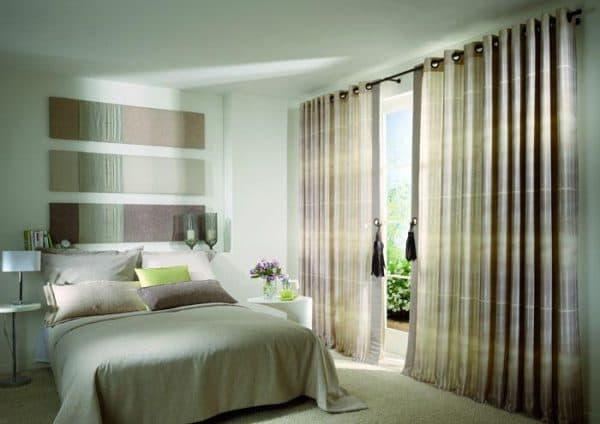 шторы на люверсах для спальной
