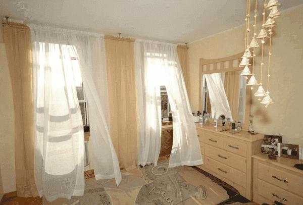 икеа шторы оформление для спальни