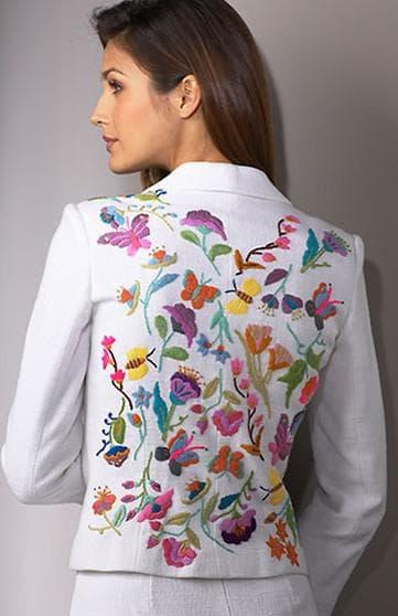 национальное вышивание текстиль Пташка