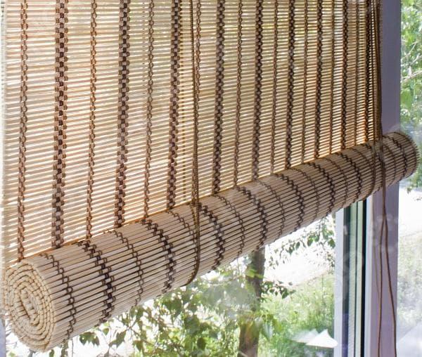 римские рулонные шторы из бамбука Эскар