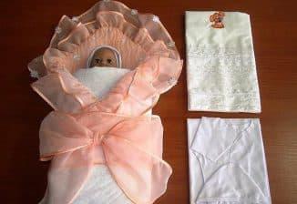 одеяло с красивыми узорами для новорождённого