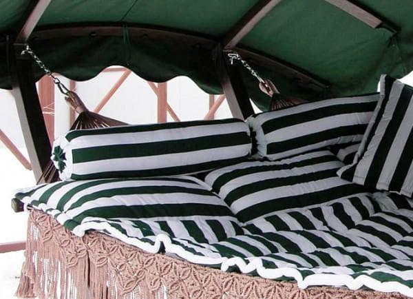 наполнитель подушки для садовых качелей натуральные