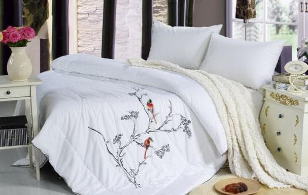 двуспального одеяла наполнитель бамбук