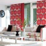 оригинальные шторы для гостиной в современном стиле