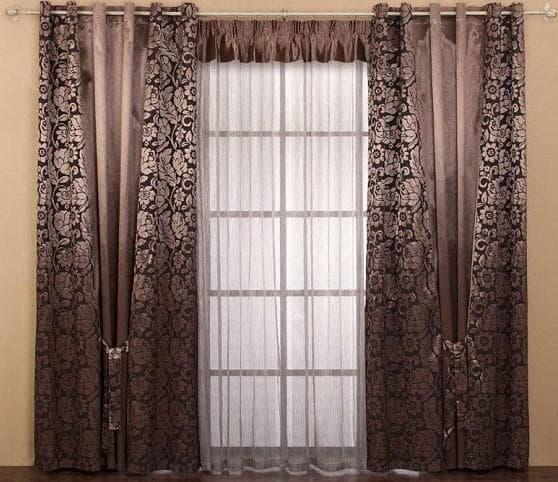 шторы в гостиную на люверсах