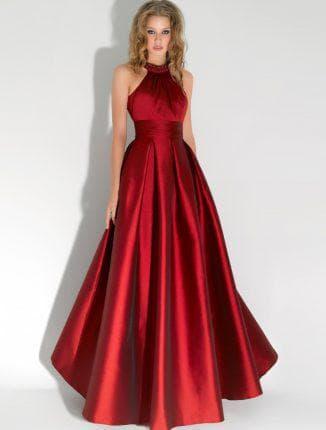атлас для вечернего платья