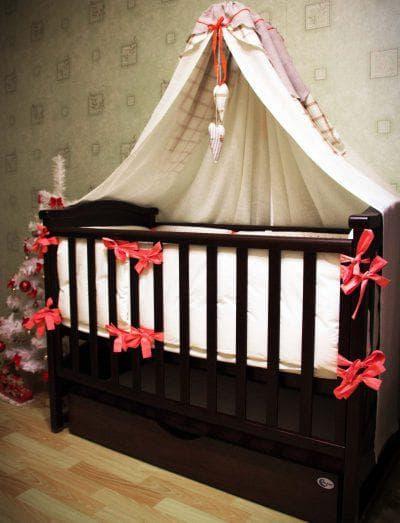 плотная ткань для балдахина на кроватку для новорожденных