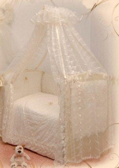 органза для балдахина на кроватку для новорожденных