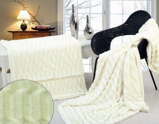 покрывало на кровать из искусственного меха с подкладкой