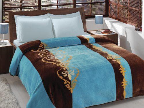 бирюзовое покрывало на кровать Мактекс