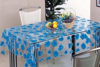 клеенка на стол для кухни с гладкой поверхностью