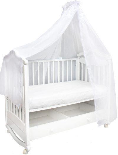 шёлк для балдахина на кроватку для новорожденных