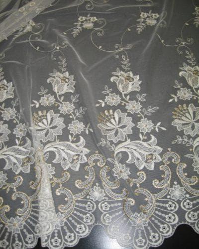 Тюль сетка с вышивкой