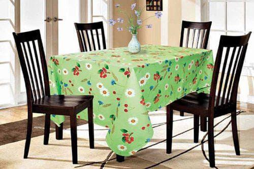 скатерть зелёного цвета на стол на каждый день