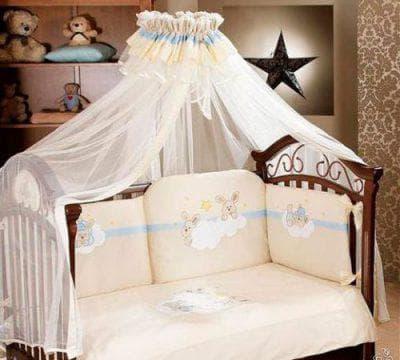 центральный балдахин на кроватку для новорожденных