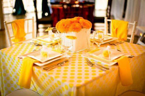 скатерть жёлтого цвета на стол на каждый день