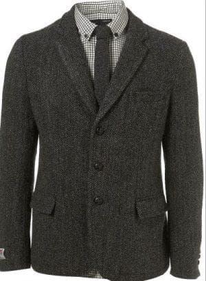 мужские строгие пиджаки из ткани твид