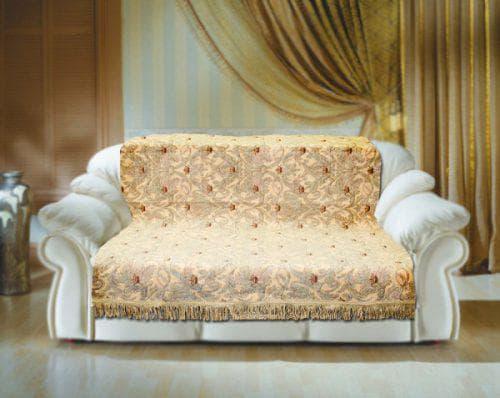 покрывало на диван на резинке из шенилла