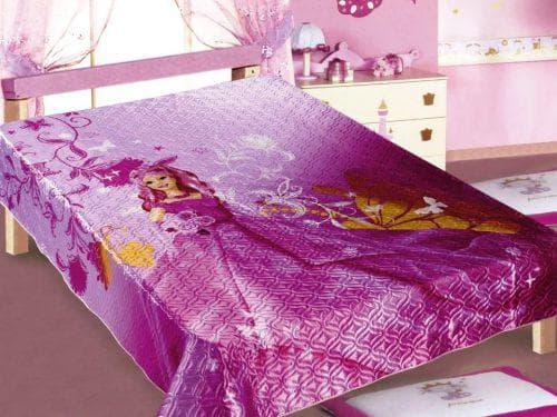 детское покрывало на кровать для девочки из шёлка