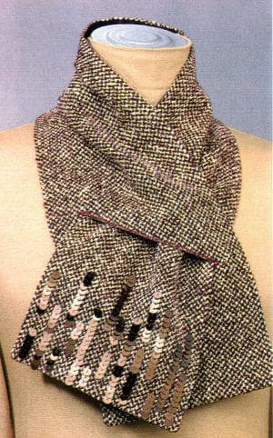 шарфики из ткани твид