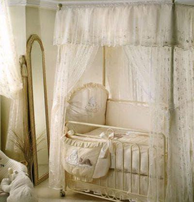 балдахин на кроватку для новорожденных по периметру