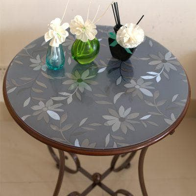 круглая прозрачная скатерть на кухонный стол