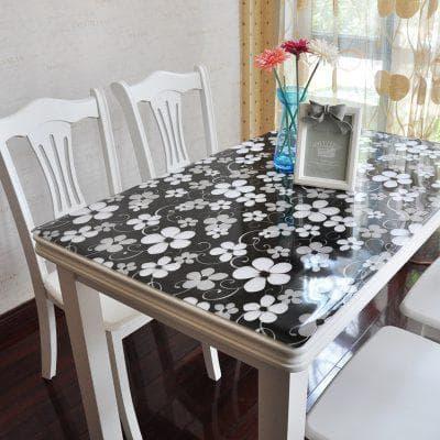 овальная прозрачная скатерть на кухонный стол