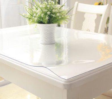 прозрачная силиконовая скатерть на кухонный стол