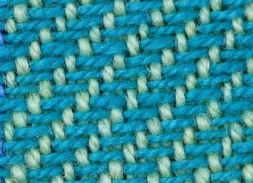 саржевое переплетение хлопковой ткани