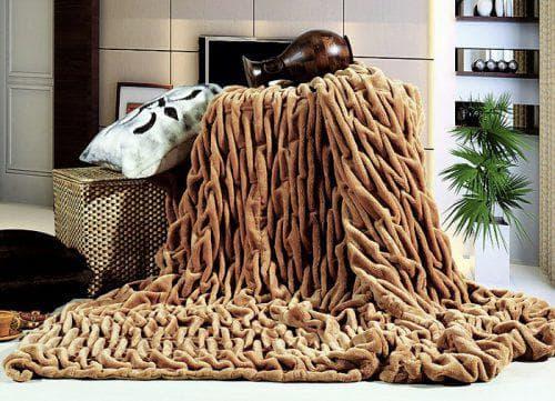плед из шерсти мериноса крупной вязки от Патерс