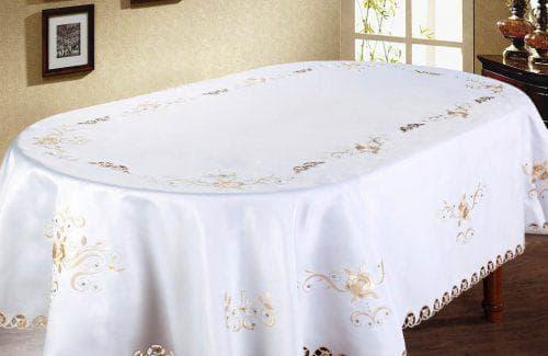 скатерть на овальный стол для кухни из шёлка