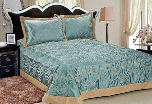 бирюзовое покрывало на кровать восточного стиля