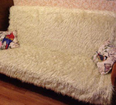 накладные покрывала на диван из искусственного меха