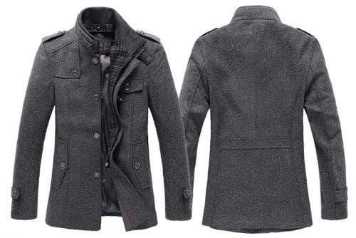 мужское пальто из шерсти