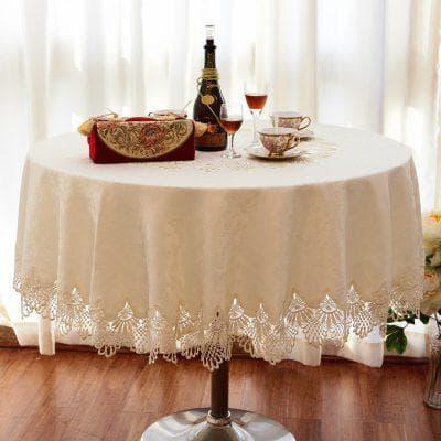 круглая скатерть на стол для кухни из хлопка