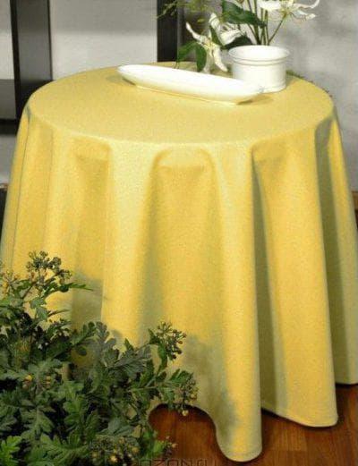 круглая скатерть на стол для кухни из полиэстера