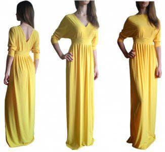платье из трикотажа масло