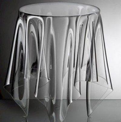 круглая скатерть на стол для кухни из акрила