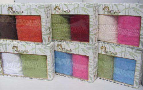 бамбуковые полотенца в праздничной упаковке