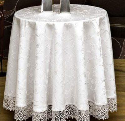 круглая скатерть на стол для кухни из тефлона