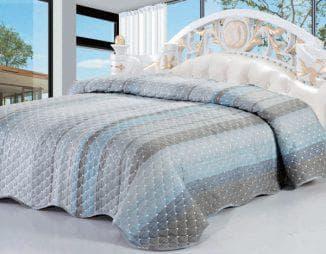 стеганное покрывало на кровать из хлопка